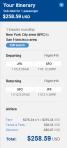 JetBlue JFK-SFO $258